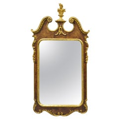 Carved Wood American Federal Parcel Gilt Wall Mirror by Decorative Crafts Inc.