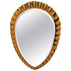 After Fontana Arte Mid-Century Modern Italian Mirror, 1960s