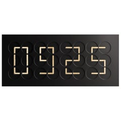 Clockclock 24 'Black' Kinetic Clock Gold Wall Sculpture by Humans since, 1982