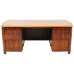 Edward J. Wormley Executive Leather Top Desk for Dunbar