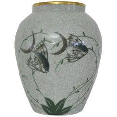 Craquele Glaze Porcelain Vase, Lyngby Porcelain, 1930s-1940s