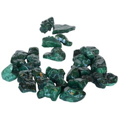 Collection of Polished Malachite Stones