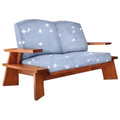 Thomas Moser Edo Two Place Sofa Loveseat, 2007, Maine, Handcrafted, Studio Art