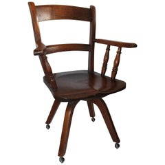 19th Century Walnut Office or Computer Chair