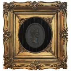 18th Century Wedgwood Black Basalt Roman Emperor Plaque