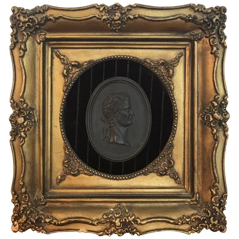 18th Century Wedgwood Black Basalt Roman Emperor Plaque For Sale