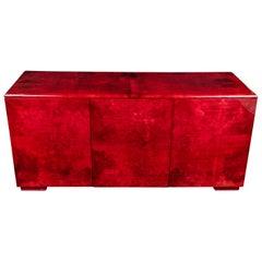 Rare Aldo Tura Goatskin Cabinet or Sideboard