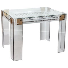 Lucite Backgammon Table in the Manner of Charles Hollis Jones
