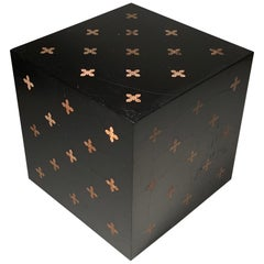 Rare Elegant Edward Wormley Dunbar Parquetry Cube Table