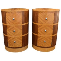 Matching Pair of Art Deco Bedside Cabinets, circa 1930