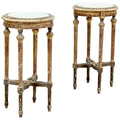 1920s French Louis XVI Giltwood Side Tables, a Pair