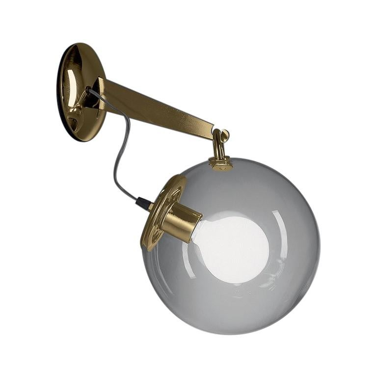 Artemide Miconos Wall Light in Gold For Sale