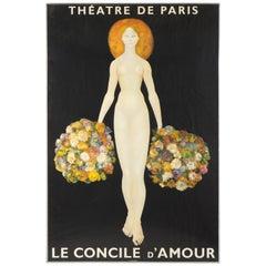 Poster for Theatre De Paris / Le Concile d'Amour after Leonor Fini