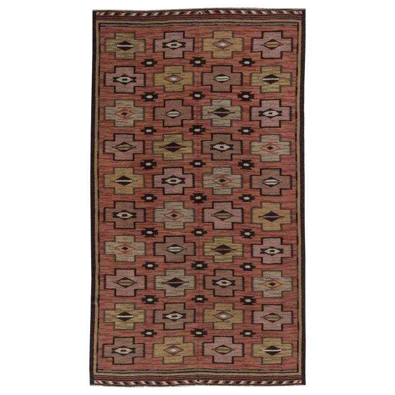 Swedish Flat-Weave Rug For Sale