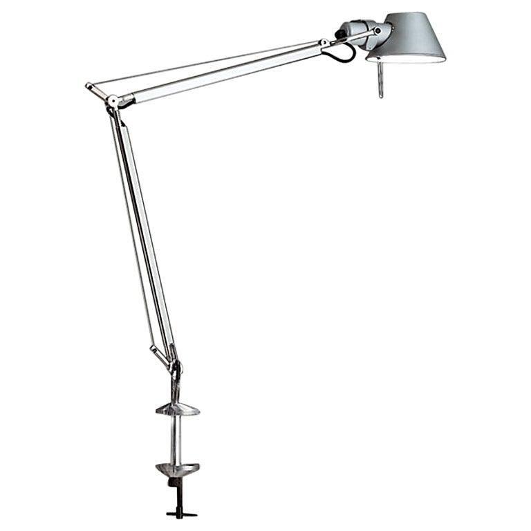 Artemide Tolomeo Mini Table Lamp in Aluminum with Clamp