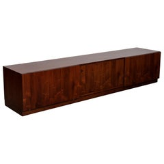 Ib Kofod-Larsen Long, Low Danish Rosewood Sideboard, 1960s, Faarup Mobelfabrik