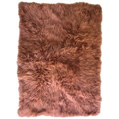 Pink Rust Cashmere Fur Chair Sofa Throw Blanket