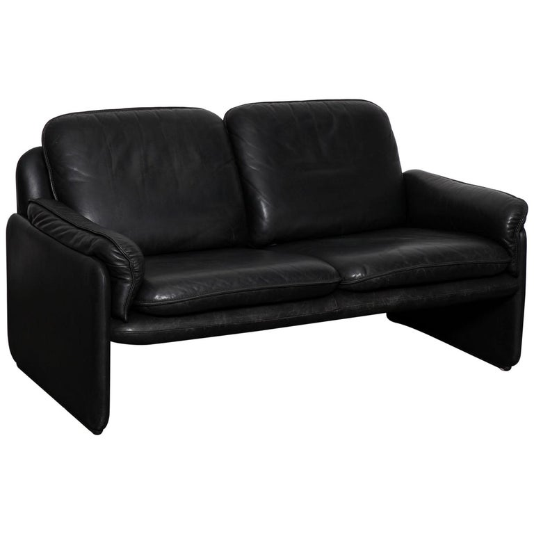 Original Black Leather Recliner Chair from De Sede, Model DS-50, Switzerland For Sale