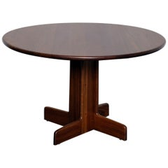 Gerald McCabe Sedua Wood Round Pedestal Base Dining Table