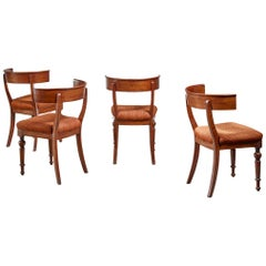 Set of Four Danish Klismos Chairs, Late 19th Century