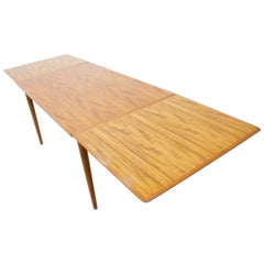 Danish Teak Dining Table with Two Extensions, 1960s