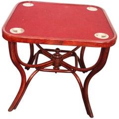 Art Nouveau No. 5 Game Table by Michael Thonet, 1900s