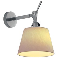 Artemide Tolomeo Large Wall Light with Round Parchment Shade