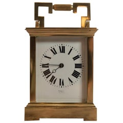 19th Century Fine 8 Day Striking French Brass Carriage Clock