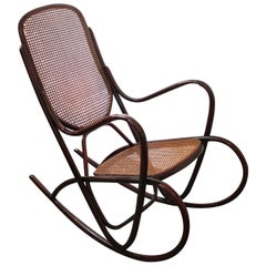 Vintage Model 7091 Rocking Chair from Thonet
