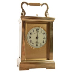 Fine French 19th Century 8 Day Striking Brass Cased Carriage Clock
