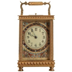 Fine French 8 Day Striking Brass Cased Carriage Clock with Repeat