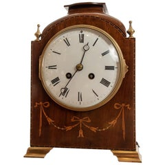 Fine 8 Day Striking the Hours Mahogany Mantel Clock by Marti of Paris