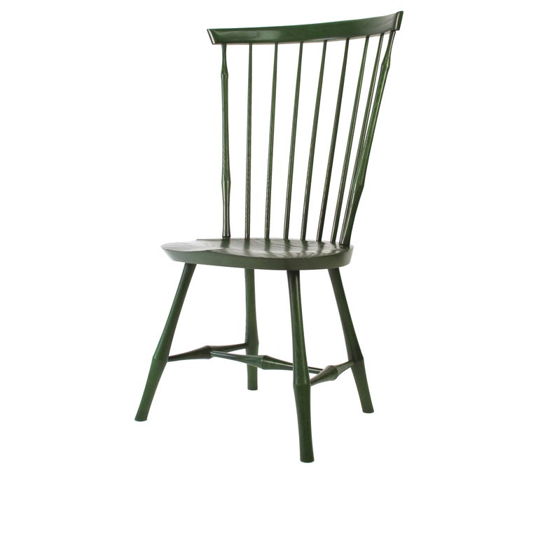 Wayland High Back Side Chair or Windsor Chair For Sale