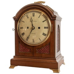Mid-19th Century Small Mahogany Cased Bracket Clock by R.J Cole of Hove
