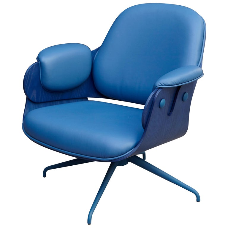 Jaime Hayon, Contemporary, Blue Low Lounger Armchair For Sale