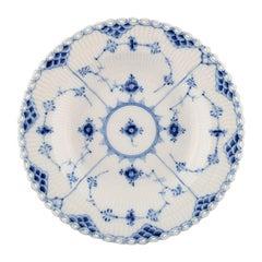 Set of 6 Royal Copenhagen Blue Fluted Full Lace Deep Plates