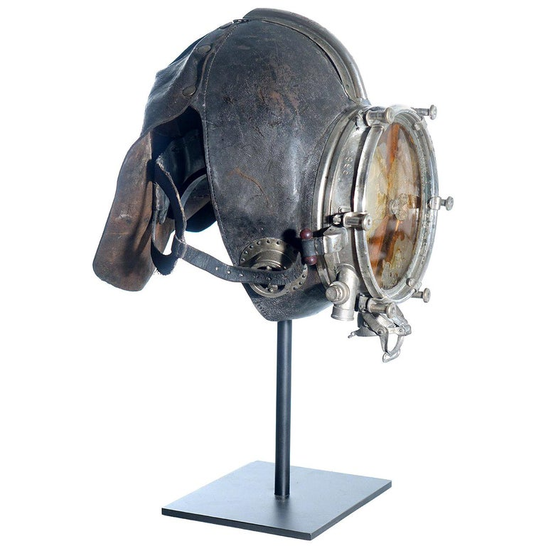Very Rare and Important 1910 Drager Smoke Mask For Sale