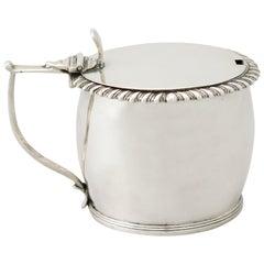 Antique William IV Irish Sterling Silver Mustard Pot