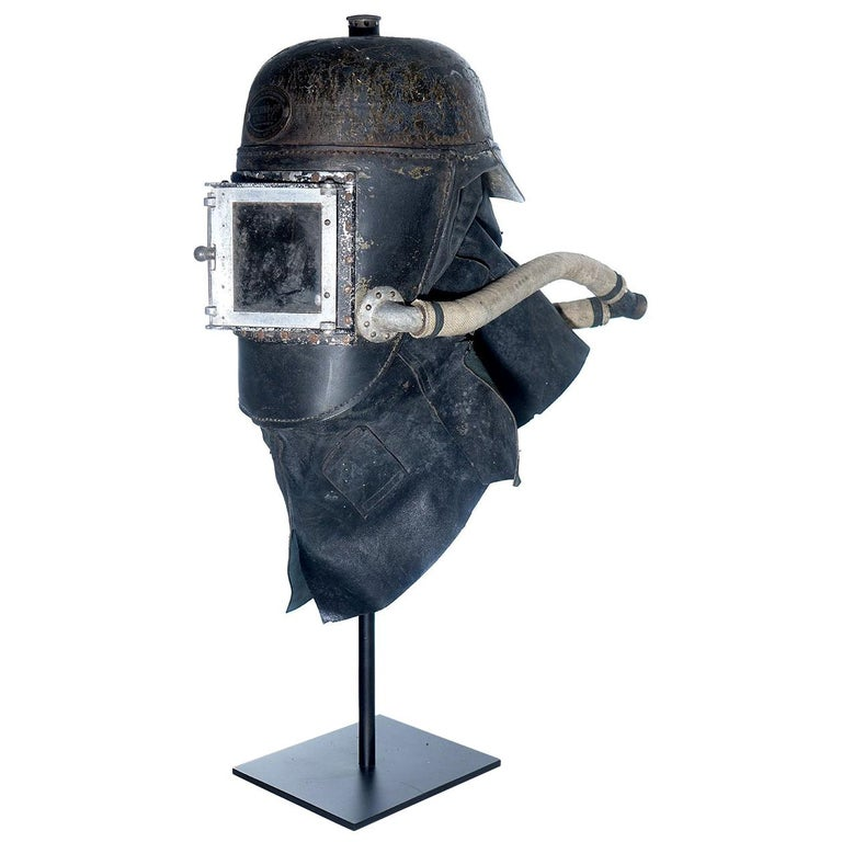 1878 Siebe Gorman Firemens Rescue Mask For Sale