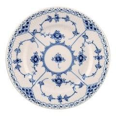 Royal Copenhagen Blue Fluted Half Lace Plate # 1/575, 5 Pieces