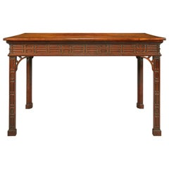 18th Century Mahogany Chippendale Period Console Table