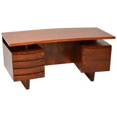 1960s Vintage Danish Concave Shape Desk
