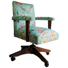 Upholstered Midcentury Office Chair