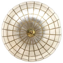 Flush Mount Ceiling Lamp Made of Mother of Pearl, 1960s, German