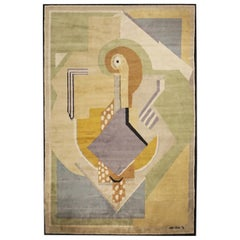 Boccara Limited Edition Artistic Handmade Wool Rug after Albert Gleizes - N.35