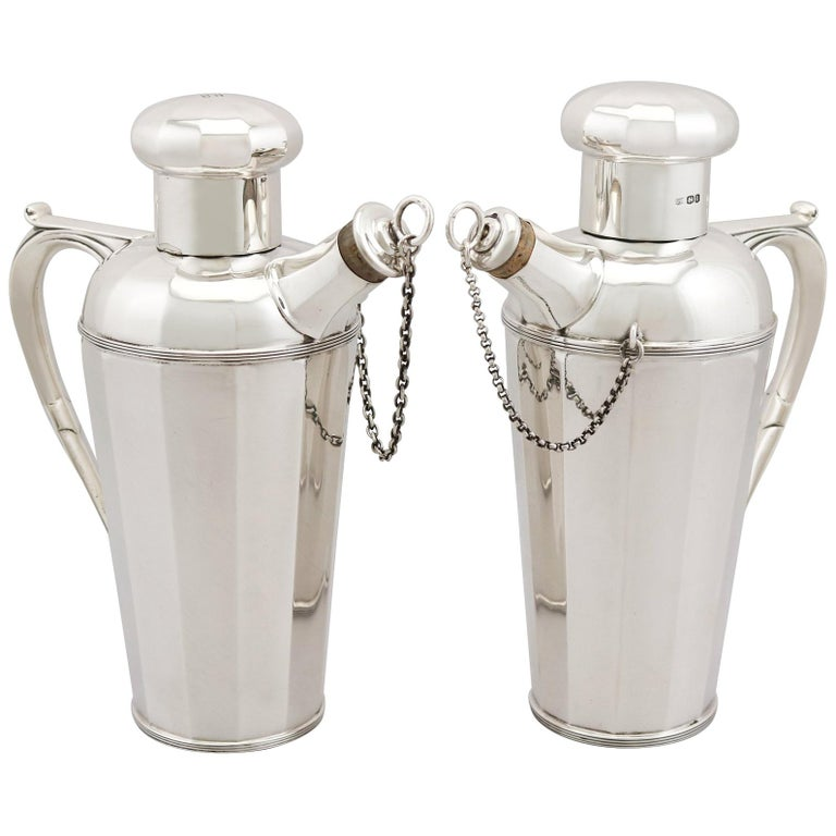 Antique Sterling Silver Cocktail Shakers For Sale