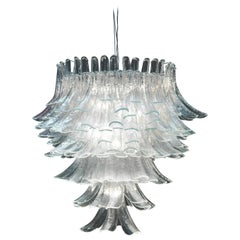 Mazzega, Large Murano Glass Chandelier, 1970s