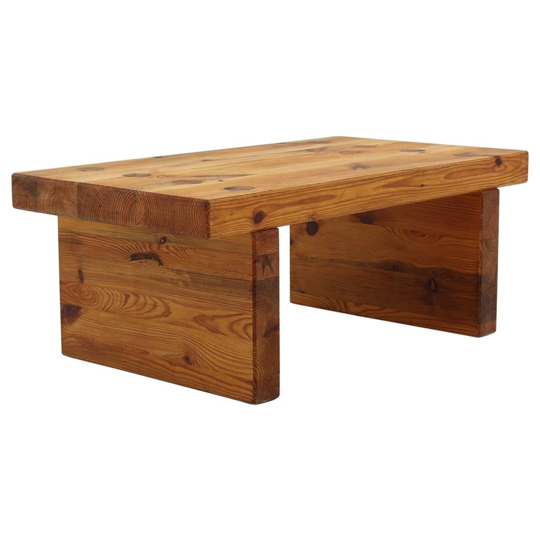Swedish Bench or Side Table in Pine by Sven Larsson
