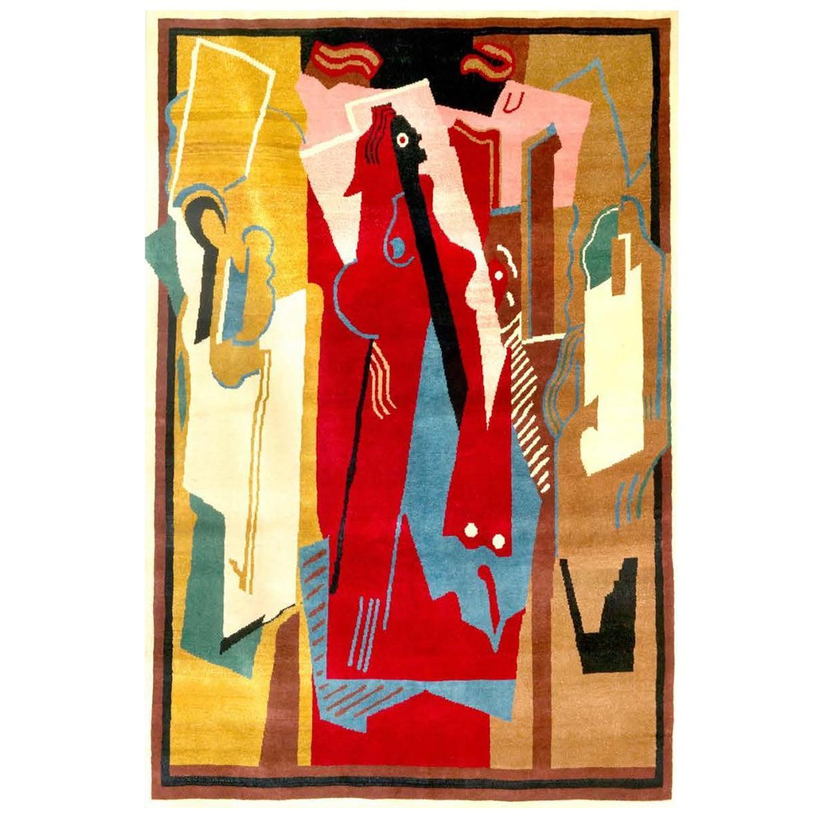 Boccara Limited Edition Artistic Handmade Wool Rug after Albert Gleizes - N.34