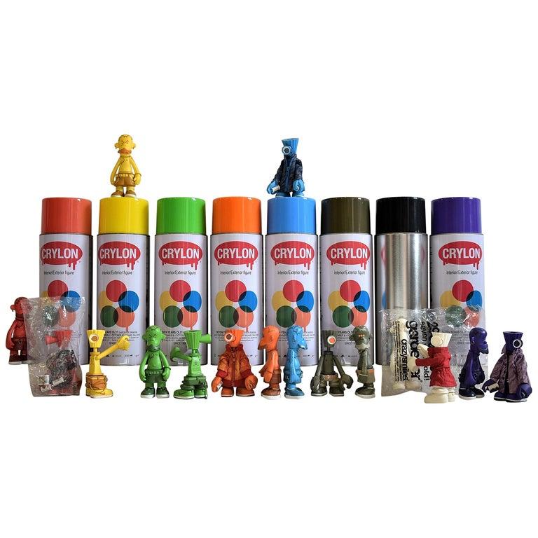 Michael Lau 2006 Rare 7 Years Gardener Designer Toy Set For Sale